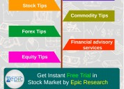 Free indian stock market tips- epic research
