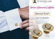 Prince diamond cufflinks