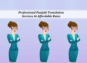 Professional punjabi translation services