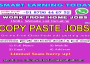 Work from home jobs in india | copy paste jobs | c