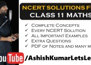 NCERT Solutions For Class 11 Maths