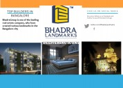 Plots for sale in bangalore by bhadra group