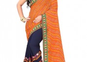 Buy the best embroidered sarees online at mirraw
