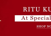 Upto 65% off on designer ritu kumar clothing - aza