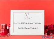 Sap s4 hana simple logistics module online trainin
