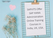 Online training sap hana administration | courses