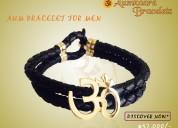 Gold aum bracelet for men