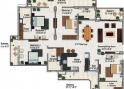4bhk residential apartments for sale