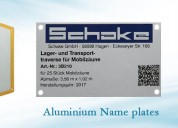 Ss name plate manufacturer - bharat metal process