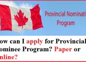 Apply for canada provincial nominee program