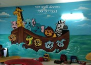 Nursery themes wall painting in hyderabad