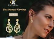 Eliza diamond earrings in gold