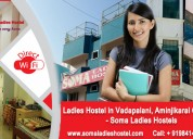 Ladies hostels in aminjikarai, chennai