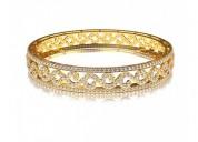 Alluring diamond bangle pair