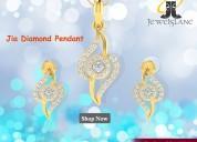 Jia diamond earrings & pendant set