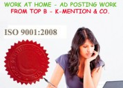 Copy-paste work at home-ad posting in k-mention