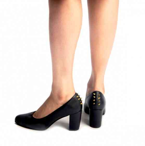 Buy Noir Court Heels With Studs for Women at PAIO