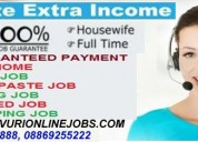 Part time home based data entry work / home based