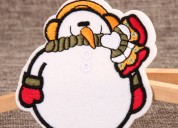 Snowman custom made patches
