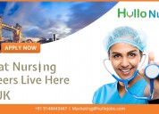 Your nursing dream job in uk comes true