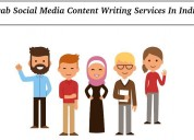 Grab social media content writing services in indi