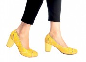Buy Dominique Ocher Yellow Court Heels for Women