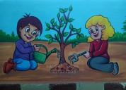 School wall painting & cartoon painting in hyderab