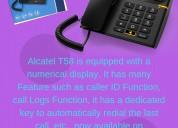 Alcatel T-56 Black- Corded Landline Phone
