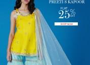 Flat 25% off on designer kurta sets