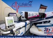Hire low-cost charter air ambulance from ranchi wi
