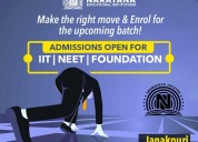 Admissions open for iit,neet and foundation course