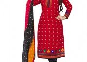 Get 75% discount on red color salwar kameez