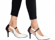Buy tyell white cut-out court heels for women