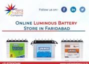 Online luminous battery shop in ballabgarh, farida