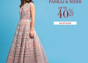 Upto 40% off on designer womens wear- aza fashions