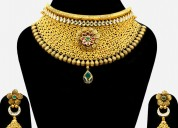 Buy handmade gold necklace online | myabhushan.com
