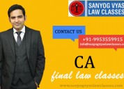 Face to face ca final law classes by sanyogvyas