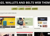 Best bags, wallet & belts ecommerce website themes