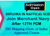 Join merchant navy | diploma in nautical science
