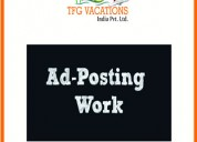 Home based online part time ad posting work
