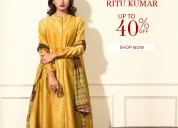 Upto 40% off on ritu kumar's designer womenswear