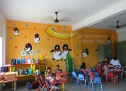 Play school wall painting designs in hyderabad