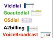 Vicidial, goautodial, a2billing, voicebroadcast