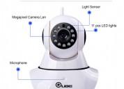 Qube 360 auto-rotating wireless cctv camera