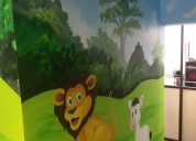 Cartoon  wall painting  in hyderabad