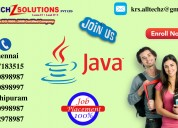 Java training center in chennai | kanchipuram