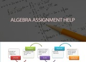 Online algebra assignment tutoring