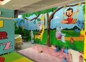 Nursery class wall decoration art in vijayawada