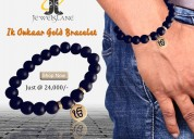 Ik onkaar gold bracelet for men