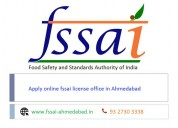 Establi online fssai license office in ahmedabad